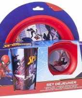 Feest marvel spiderman ontbijtset 3 delig kinder servies