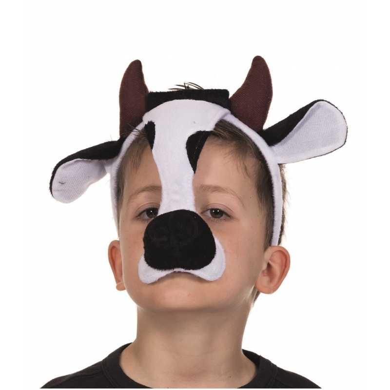 Feest masker koe met geluid