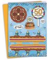 Feest mega 3d taart kaart abraham 50 jaar