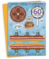 Feest mega 3d taart kaart abraham 60 jaar