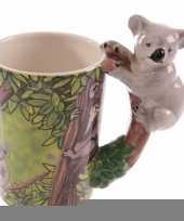 Feest melk beker koala op boomtak