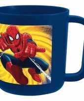 Feest melkbeker spiderman blauw