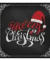 Feest merry christmas servetten 20 stuks
