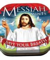 Feest messias pepermuntjes in blikje