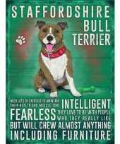 Feest metalen plaat bull terrier
