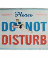 Feest metalen plaat do not disturb