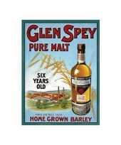 Feest metalen plaat glen spey whiskey