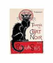 Feest metalen plaat le chat noir cabaret