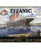 Feest metalen plaat met de titanic afgebeeld 10040209