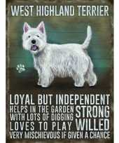 Feest metalen plaat west higland terrier