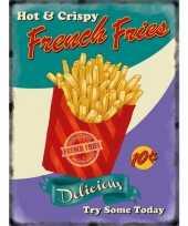 Feest metalen platen french fries