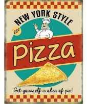 Feest metalen platen pizza ny style