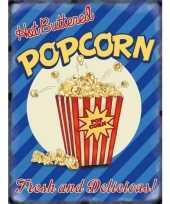 Feest metalen platen popcorn