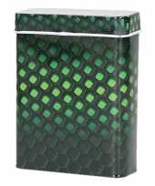 Feest metalen sigarettenblikje honingraat zwart groen