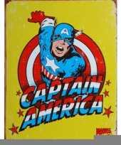 Feest metalen wandplaat captain america