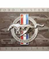 Feest metalen wandplaat ford mustang 32 x 41 cm