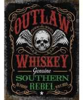 Feest metalen wandplaat whiskey voor in de bar