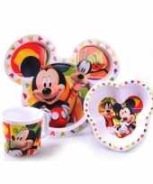 Feest mickey mouse ontbijtset