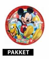 Feest mickey mouse pakket voor 6 kinderen