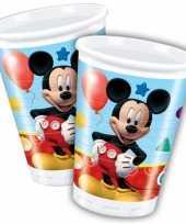 Feest mickey mouse wegwerp bekertjes 8 stuks