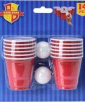 Feest mini game beerpong 14 delig