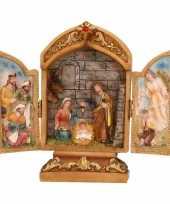 Feest mini kapel met heilige familie 18 cm