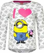 Feest minion t-shirt wit