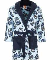 Feest minions fleece badjas blauw voor jongens