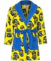 Feest minions fleece badjas geel voor jongens