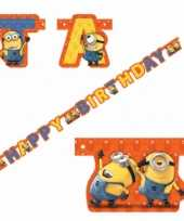 Feest minions happy birthday wenslijn