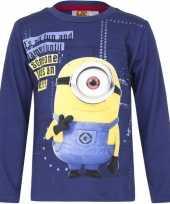 Feest minions t-shirt blauw voor jongens