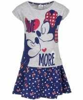 Feest minnie mouse blauw rokje met-shirt meisjes