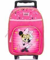 Feest minnie mouse handbagage reiskoffer trolley 38 cm voor kinderen