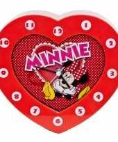 Feest minnie mouse klokken hartvormig