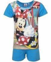 Feest minnie mouse korte pyjama blauw