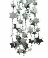 Feest mintgroene kerstversiering ster kralenslinger 270 cm