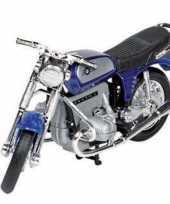 Feest model speelgoed motor bmw r75 blauw 1 18