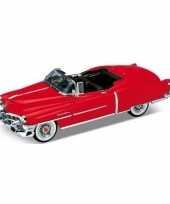 Feest modelauto cadillac eldorado rood open cabrio 1953 1 34