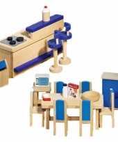 Feest moderne keuken meubeltjes voor een poppenhuis