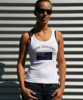 Feest mouwloos shirt met vlag nieuw zeeland print voor dames