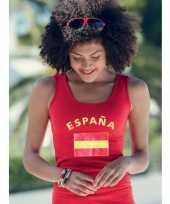 Feest mouwloze shirts met vlag van spanje dames