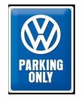 Feest muurplaat volkswagen parking 30 x 40 cm