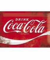 Feest muurplaatje 20 x 30 coca cola