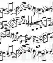 Feest muzieknoot servetten 16 stuks