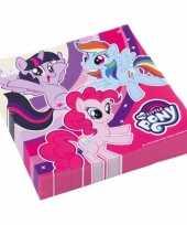 Feest my little pony servetten 20 stuks