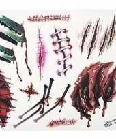 Feest nep tattoos horror wonden