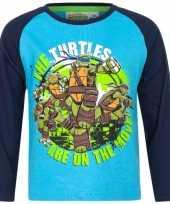 Feest ninja turtles t-shirt blauw voor jongens