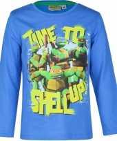 Feest ninja turtles t-shirt blauw