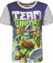 Feest ninja turtles t-shirt met grijze mouwtjes