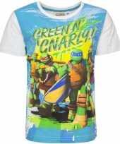 Feest ninja turtles t-shirt met witte mouwtjes
